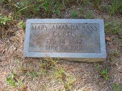 Mary Amanda <i>Bass</i> Curtis
