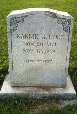 Nancy Jane Nannie <i>Alvis</i> Cole