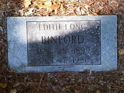 Edith <i>Long</i> Binford