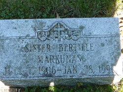 Sr Bertille Markunas