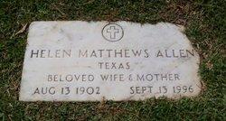 Helen <i>Matthews</i> Allen