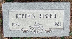 Roberta <i>Russell</i> Anderson