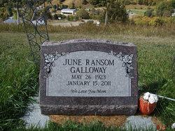 June <i>Ransom</i> Galloway