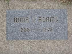 Anna J. <i>James</i> Adams