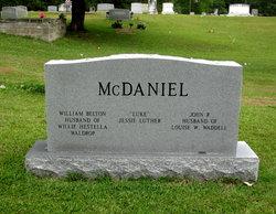 Willie Hestella Fanny <i>Waldrop</i> McDaniel