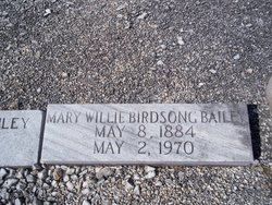 Mary Willie <i>Birdsong</i> Bailey