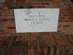 Zion's Rest Primitive Baptist Church & Cemetery