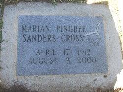 Marian Pingree <i>Sanders</i> Cross