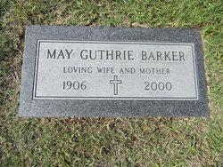 Mabel Lucille May <i>Guthrie</i> Barker