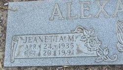 Jeanetta Mae <i>Dobbins</i> Alexander