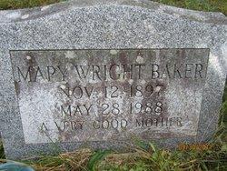 Mary <i>Wright</i> Baker