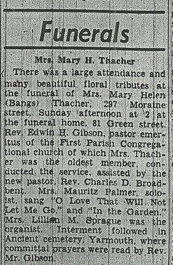 Mary Helen <i>Bangs</i> Thacher