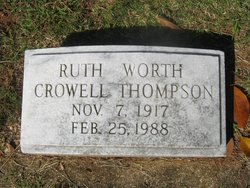 Ruth Worth <i>Crowell</i> Thompson