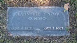 Jeanette H. <i>Stahl</i> Gundeck