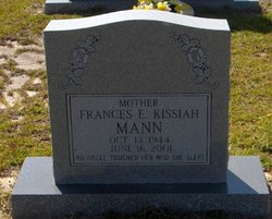 Frances E <i>Kissiah</i> Mann