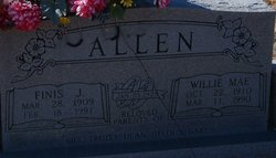 Willie Mae <i>Whittington</i> Allen
