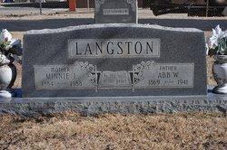 Minnie Julie <i>Brooks</i> Langston