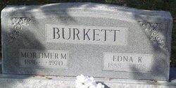 Mortimer M Burkett