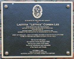 Laetitia <i>Corbin</i> Lee