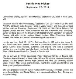 Lennie Mae Dickey