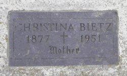 Christina <i>Friederich</i> Bietz