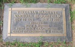 Virginia Nanette <i>Van Horn</i> Bloomfield