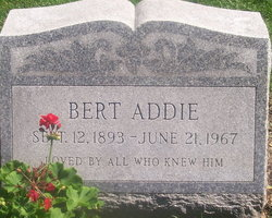 Albert Holmes Bert Addie