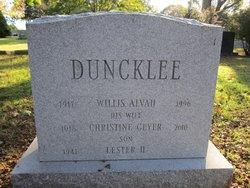 Christine <i>Geyer</i> Duncklee