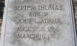Bertha <i>Thomas</i> Adams