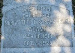 Sara Irvine Adams