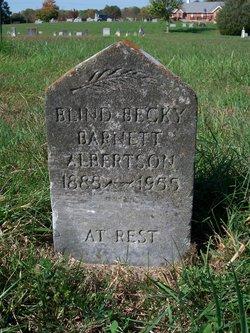Rebecca Blind Becky <i>Barnett</i> Albertson
