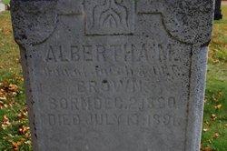 Albertha M. Brown
