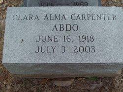 Clara Alma <i>Carpenter</i> Abdo