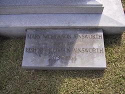 Mary <i>Nicholson</i> Ainsworth