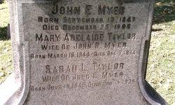 Sarah L <i>Taylor</i> Myer