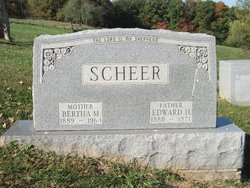 Bertha M <i>Thielke</i> Scheer
