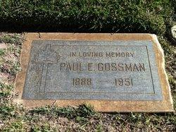 Paul Edward Gossman