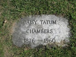 Mrs Daisy Martha Ella Mattie <i>Tatum</i> Chambers