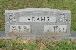 Willie M Bill Adams