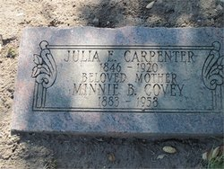 Julia E <i>Soule</i> Carpenter
