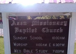 Azen Missionary Baptist Church Cemetery