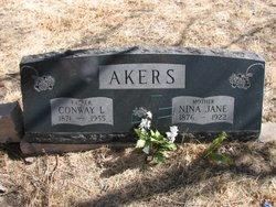 Nina Jane <i>Finch</i> Akers