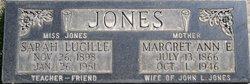 Margaret Anne <i>Evans</i> Jones