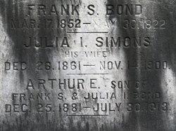 Julia I. <i>Simmons</i> Bond