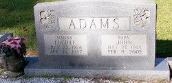 Lucille Nannie Adams