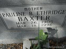 Pauline B <i>Ethridge</i> Baxter