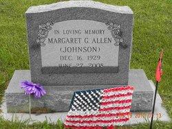 Margaret G <i>Johnson</i> Allen