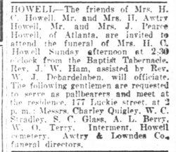 Harritte C. <i>Scoggins</i> Howell