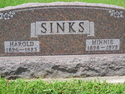 Margaret Mina Minnie <i>Murray</i> Sinks