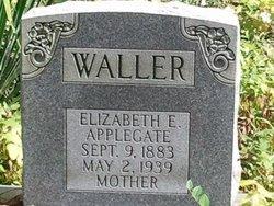 Elizabeth E <i>Applegate</i> Waller